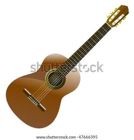 classic guitar - stock vector