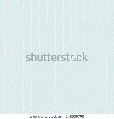 Classic hand drawn chevron seamless pattern. Elegant zig zag background. Line texture. Vector illustration - stock vector