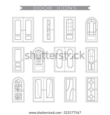 Different Types Doors Stock Images Royalty Free Images