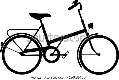 Classic ladies shopper bike silhouette