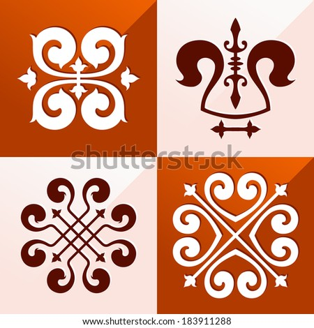 classic medieval emblem ornament for various purpose such as pattern and background - stock vector