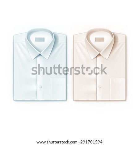 Classic men shirt set isolated vector illustration