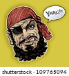 Classic Pirate - stock vector