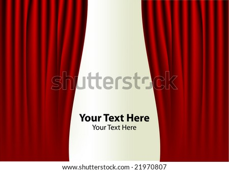 classic red curtain and place for your text - stock vector