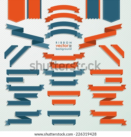 Classic ribbon collection on the white background. Eps 10 vector file. - stock vector