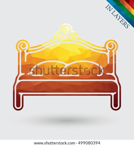 Classic royal bench vector