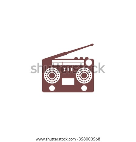 Classic 80s boombox. Colorful vector icon. Simple retro color modern illustration pictogram. Collection concept symbol for infographic project and logo - stock vector