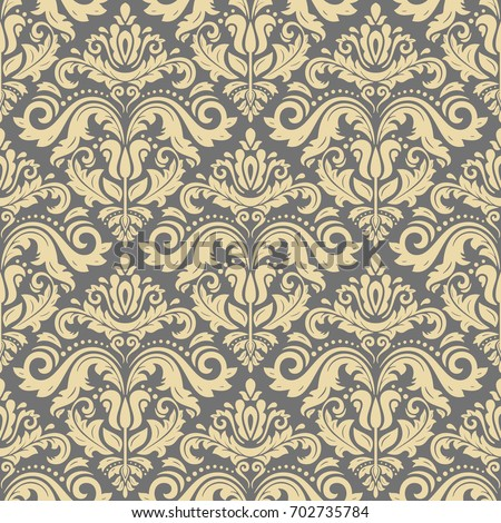 Classic seamless vector pattern. Traditional orient ornament. Classic vintage golden background