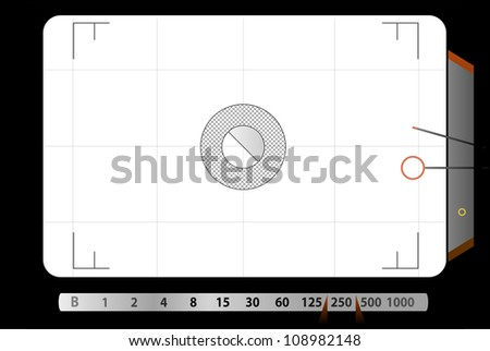 Classic SLR viewfinder, with free space for your pics - stock vector