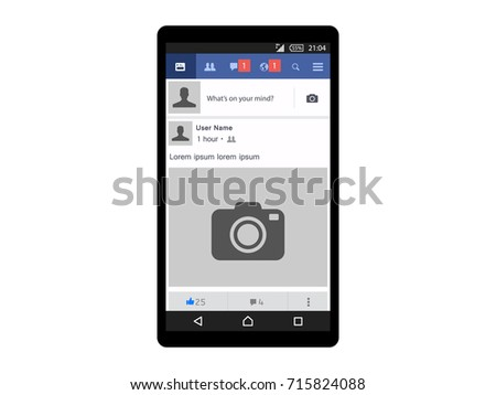 Face book Lite Social page interface concept on mobile vector