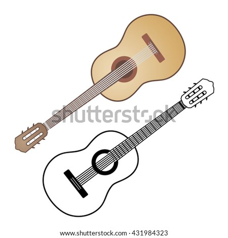 Spanish Guitar Stock Images Royalty Free Vectors