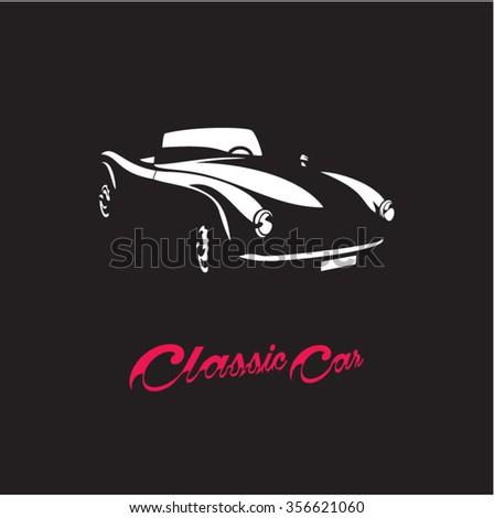 Classic Sports car  Retro car. Vintage car.  - stock vector
