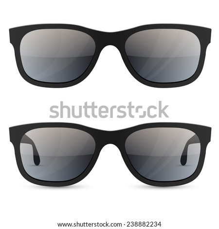 Classic sunglasses vector template isolated on white background. - stock vector