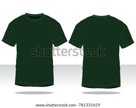 Classic T Shirt Template Dark Green Stock Vector