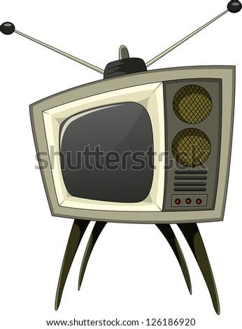 classic tv - stock vector