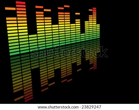 classical colorful music equalizer - stock vector