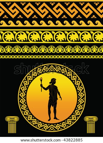 Classical Greek Pattern, vector - stock vector