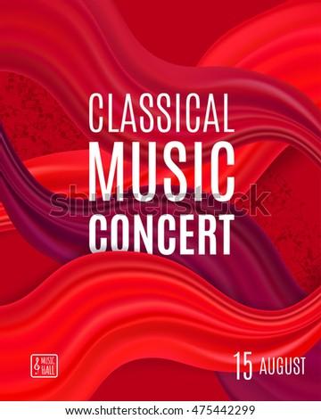 Classical Music Concert Poster Elegant Background Stock Vector