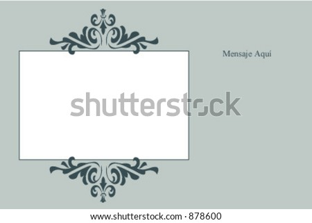 Classical photo card with space for message - stock vector