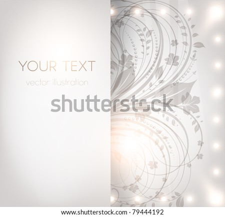 Classical wallpaper with a flower pattern for business retro design. vector. eps 10. - stock vector