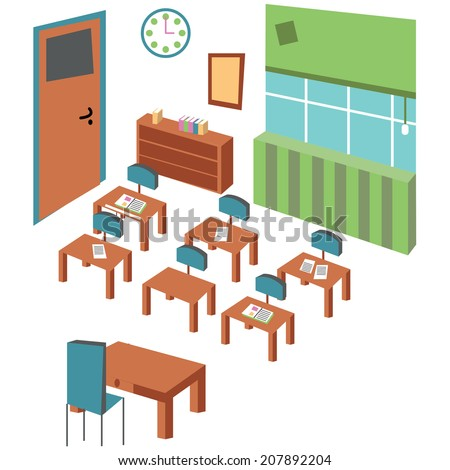 classroom - stock vector