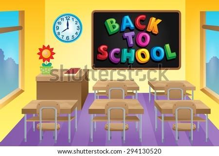 Classroom theme image 4 - eps10 vector illustration. - stock vector