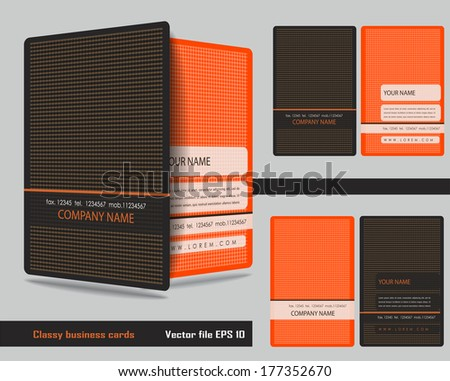 Classy business cards - stock vector
