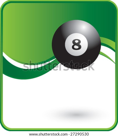 classy eight ball background