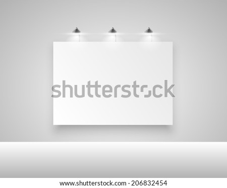Clean billboard for advertising, vector - stock vector
