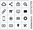 Clean Black Web icons set - stock vector