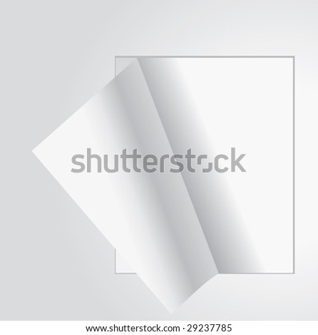 Clean blank page. Vector. - stock vector