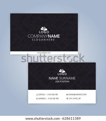 Clean business card template modern creative stock vector 628611389 clean business card template modern creative illustration vector 10 colourmoves