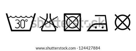 Clean Clothes Symbols Stock