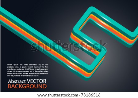 clean colored business card or background with space for text - stock vector