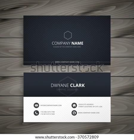 Clean dark business card stock vector 370572809 shutterstock clean dark business card colourmoves Choice Image