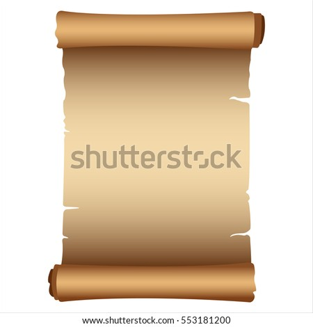 clean detailed ancient scroll on white background vector illustration