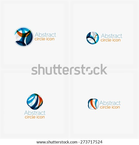 Clean elegant circle shaped abstract geometric logo. Universal for any idea. Vector illustration - stock vector