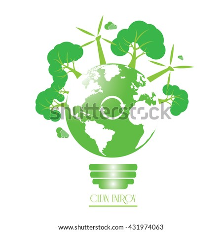 Clean energy graphic design, Vector illustration