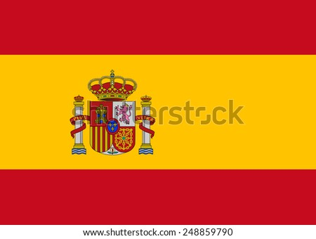 Clean flag of Spain, Europe, vector illustration - stock vector