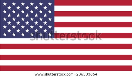 Clean flag of USA, America, vector illustration - stock vector