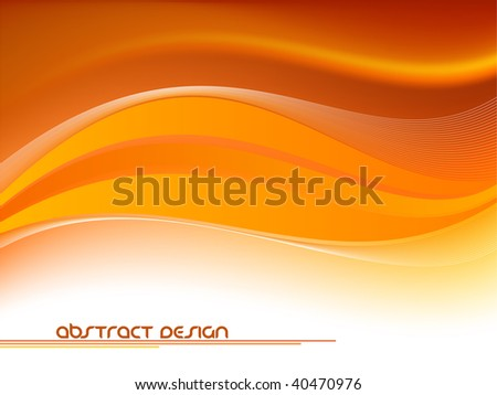 Clean Futuristic Wave Background - stock vector