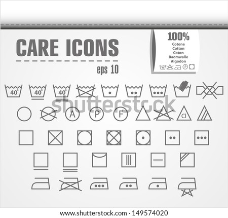 Clean icon set. - stock vector