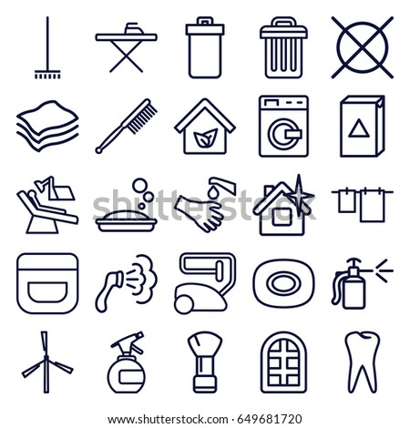 Household Supplies Icons Set Cleaning Flat Stock Vector 383367871 ...