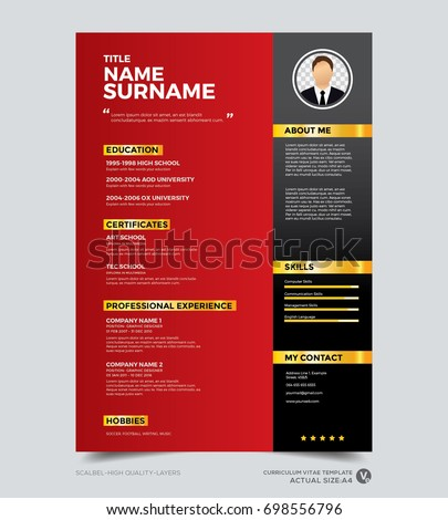 red modern resume template selo l ink co