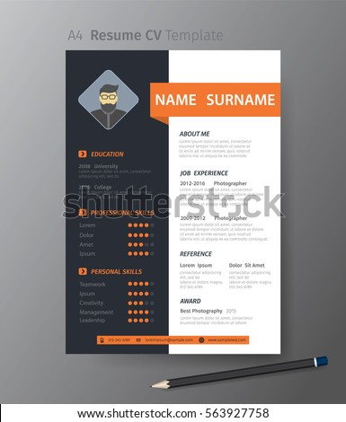 Cv stock images royalty free images vectors shutterstock clean modern design template of resume or cvvector illustration yelopaper Image collections