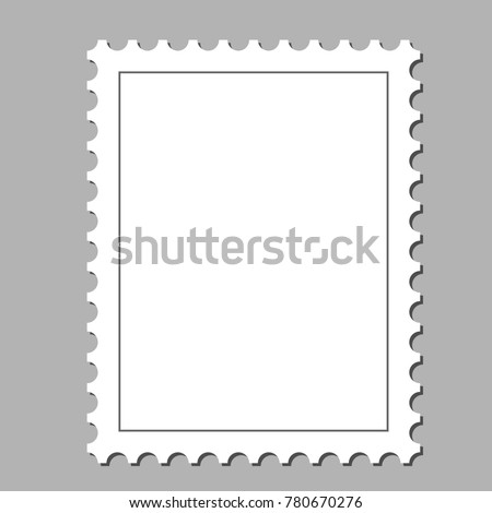 Clean Postage Stamp Template Background Vector Stock Vector