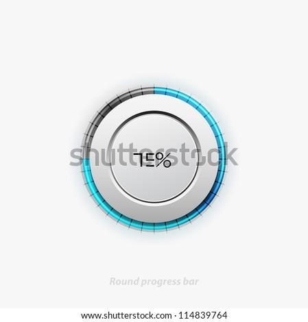 Clean round progress bar. Eps10 vector illustration - stock vector
