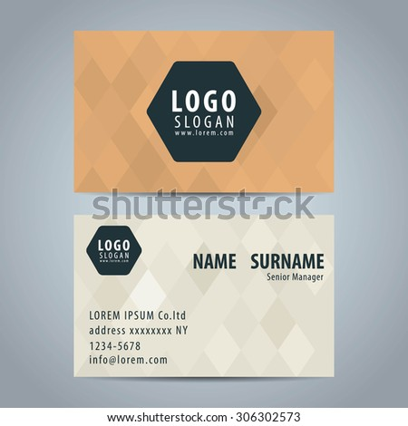 Clean simple modern business card template stock vector 306302573 clean simple modern business card template colourmoves