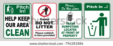 Flattened Bo And Bulk Trash Recycling Sign