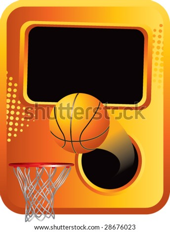 clean style basketball background - stock vector